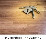 house keys on wood table  color ... | Shutterstock . vector #442820446
