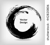 hand drawn circle shape. label  ... | Shutterstock .eps vector #442820806
