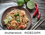 thai fried rice noodles with... | Shutterstock . vector #442821694