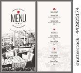 restaurant menu design. vector... | Shutterstock .eps vector #442825174
