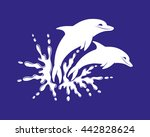 splash of water and two... | Shutterstock .eps vector #442828624