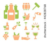 wine icon set | Shutterstock .eps vector #442828768