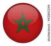 morocco flag button | Shutterstock .eps vector #442842244
