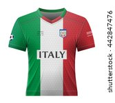 soccer shirt in colors of... | Shutterstock .eps vector #442847476