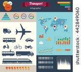 a modern set of infographics... | Shutterstock .eps vector #442849060