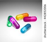 pills tablets drugs placer ... | Shutterstock .eps vector #442852006