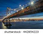 beautiful momoent of bay bridge ... | Shutterstock . vector #442854223