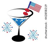 patriotic cocktail | Shutterstock .eps vector #442858219