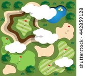 golf course. view from above.... | Shutterstock .eps vector #442859128