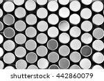 black and white metal screw cap ... | Shutterstock . vector #442860079