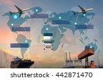 business logistics | Shutterstock . vector #442871470