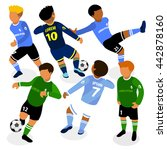 football soccer players in... | Shutterstock .eps vector #442878160