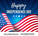 independence day 4 th july.... | Shutterstock .eps vector #442883500