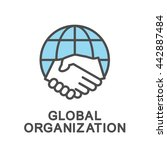 global organization contour... | Shutterstock .eps vector #442887484
