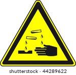 warnng sign   Shutterstock . vector #44289622
