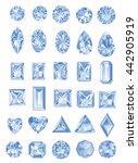 set of realistic jewels... | Shutterstock .eps vector #442905919