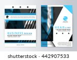 layout design template  annual... | Shutterstock .eps vector #442907533