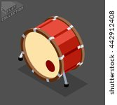 kick drum. musical equipment.... | Shutterstock .eps vector #442912408