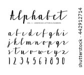 hand drawn vector alphabet ... | Shutterstock .eps vector #442912714