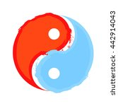 yin and yang  water and fire... | Shutterstock .eps vector #442914043