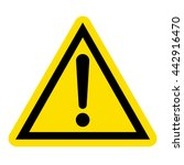 hazard warning sign | Shutterstock .eps vector #442916470