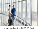 couple in love on vacation.... | Shutterstock . vector #442931869