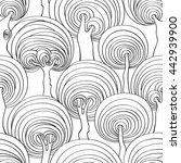 graphic seamless pattern of... | Shutterstock .eps vector #442939900