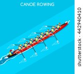 canoe rowing coxswain eight... | Shutterstock .eps vector #442940410