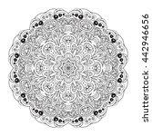 mandala eastern pattern.... | Shutterstock . vector #442946656