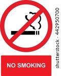 no smoking sign  | Shutterstock .eps vector #442950700