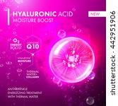 hyaluronic acid moisture boost. ... | Shutterstock .eps vector #442951906