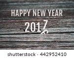 celebrate happy new year 2017 ... | Shutterstock . vector #442952410