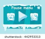 pause menu window vector...