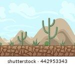 mountain and desert seamless...