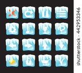 set of ice and snow icons...