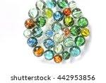 Glass Marbles In Nylon Bag