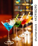 multicolored cocktails at the... | Shutterstock . vector #442958290