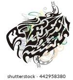 grunge tribal eagle symbol....   Shutterstock .eps vector #442958380