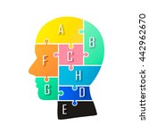 Stock vector head info puzzle sign template design element vector illustration 442962670