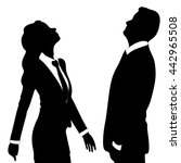 business woman and business man ... | Shutterstock .eps vector #442965508