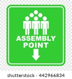 assembly point | Shutterstock .eps vector #442966834