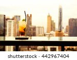 mojito cocktail on table in... | Shutterstock . vector #442967404