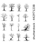 silhouettes of trees | Shutterstock .eps vector #442971238