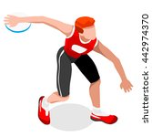 athletics discus throw... | Shutterstock .eps vector #442974370