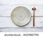 Ceramic Dish  Plate  And...