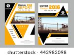 abstract yellow balck vector... | Shutterstock .eps vector #442982098