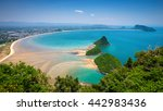 the nice beach from top view | Shutterstock . vector #442983436