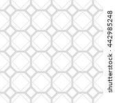 gray and white geometric... | Shutterstock .eps vector #442985248