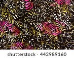 texture fabric of leopard and...   Shutterstock . vector #442989160