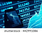 charts of financial instruments ... | Shutterstock . vector #442991086